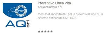 App per la richiesta di preventivi linea vita UNI 11578 - UNI 795